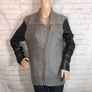 Sparkle & Fade Anthropologie Moto Style Sweater L